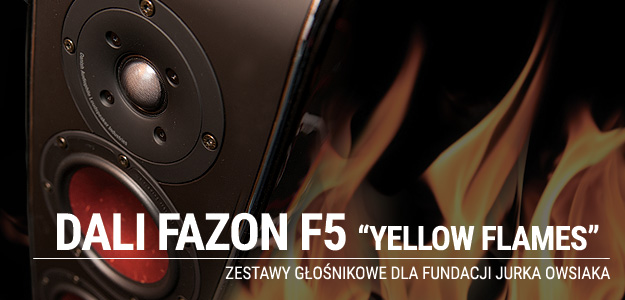 DALI FAZON F5 YELLOW FLAMES