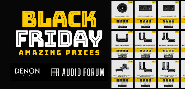 Szalone oferty na Black Friday w Denon Store i Audio Forum